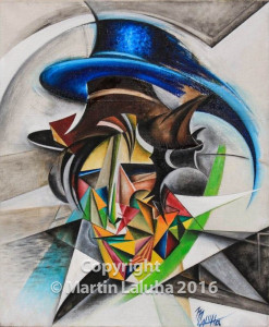 Pán klobúkov olej na plátne